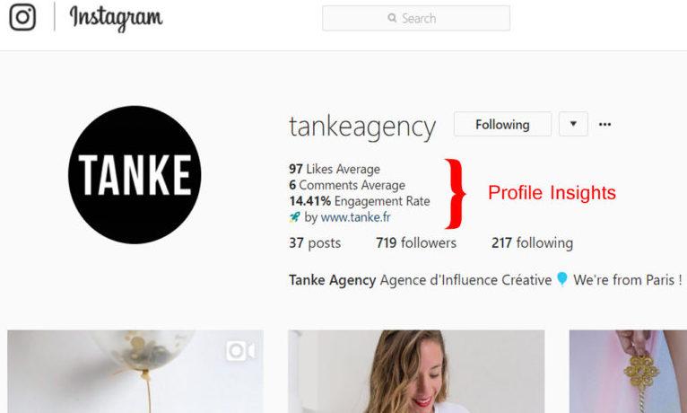 Une extension Chrome pour calculer le taux d'engagement sur Instagram